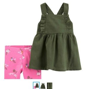 Cute shorts and top set - Pink and olive top